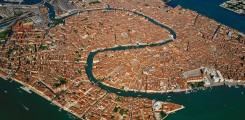صورة جوية لمدينة البندقية فينيسيا الايطالية