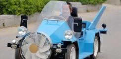 سيارة بطاقة الرياح يصنعها مزارع صيني