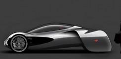 سيارة المستقبل وزن خفيف هيكلها مكون من ألياف الكرتون