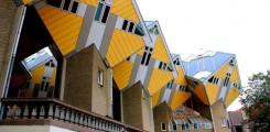 بيوت على اشكال المكعبات في هولندا