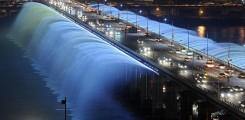 صور لنافورة قوس ضوء القمر في كوريا
