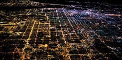 صورة لوس انجلوس بالليل